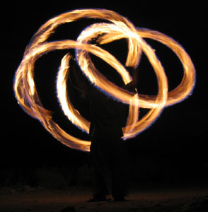 picture of fire poi
