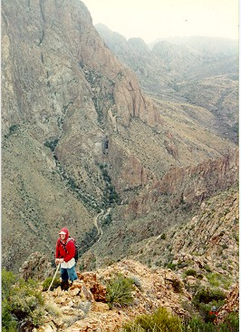 picture of me on carter peak, big bend