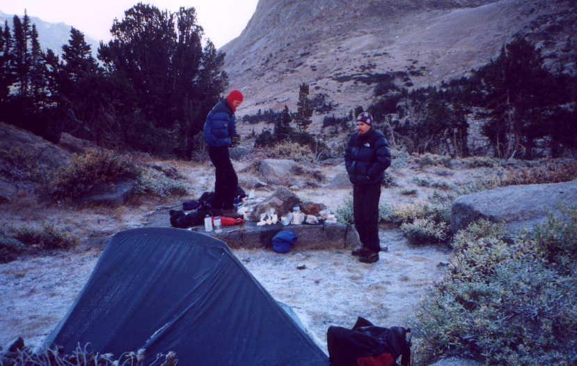 picture of A very cold morning on another trip to the cirque with Andy and Reeve