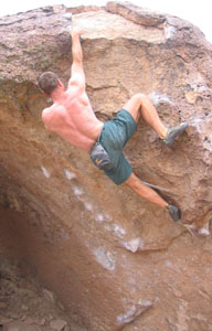 picture of Tom climbing