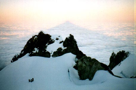 Pic of the shadow of mount hood