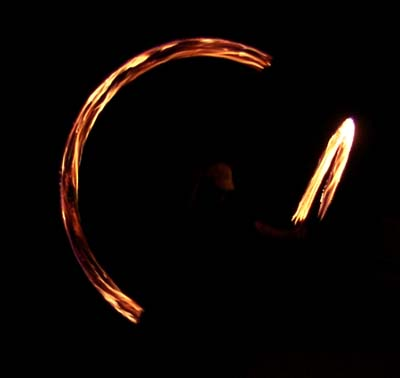 picture of spinning poi in Bishop