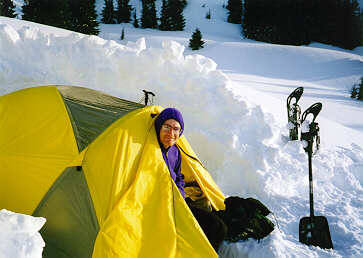 Pic of me in my tent in the cascades